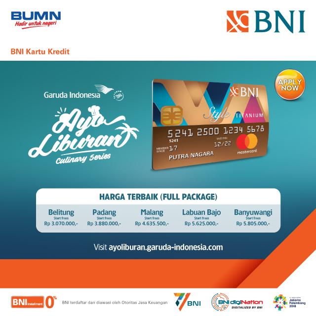 Ayoliburan Dengan Kartu Kredit Bni New Titanium Style Dan Garuda Indonesia Dari Garuda Indonesia Https M Bnizona Com Promo View 1995 23