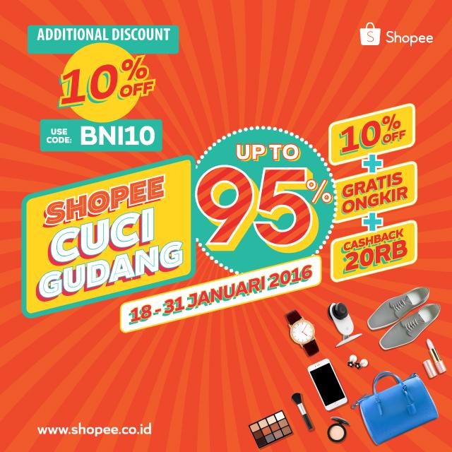 Tambahan Diskon 10 Di Shopee Co Id Khusus Pemegang Kartu Kredit Bni Dari Shopee Https M Bnizona Com Promo View 1129 26