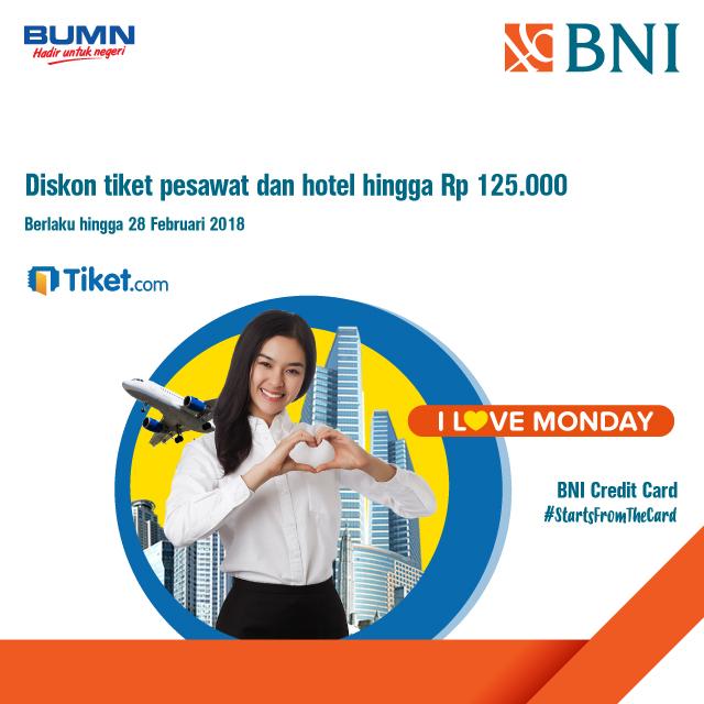 Diskon Tiket Pesawat Dan Hotel Hingga Rp 125 000 Di Tiket Com Dengan Kartu Kredit Bni Dari Tiket Com Https M Bnizona Com Promo View 2313 0