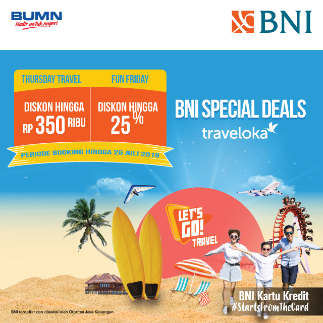 Get exciting offers on Traveloka with BNI Credit Card dari