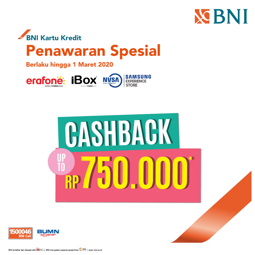Cashback Rp 750 000 Di Erafone Ibox Dan Samsung Store By Nasa Dari Erafone Https M Bnizona Com Promo View 4378 0